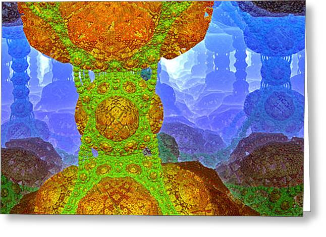 Mind Energy Greeting Cards - Parallel World 5 Greeting Card by Evgeniy Lankin