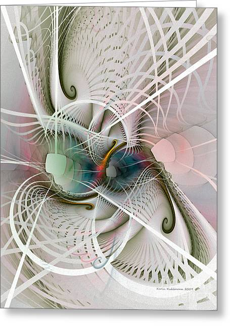 Science Fiction Art Greeting Cards - Parallel Worlds Greeting Card by Karin Kuhlmann