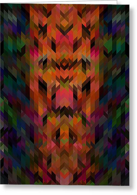 8 Bit Greeting Cards - Parallelogram Pixels Greeting Card by Kyle Morris
