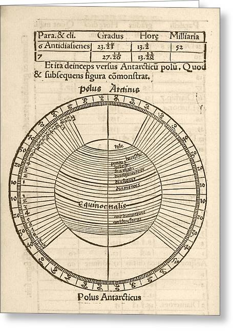 Parallels On Earth Globe Greeting Card by Library Of Congress