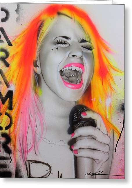 Hayley Williams - ' Paramore ' Greeting Card by Christian Chapman