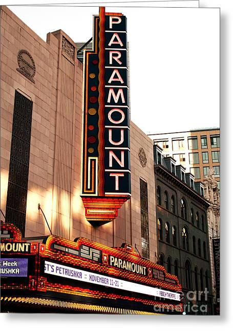 Still Life Photographs Greeting Cards - Paramount in Boston Greeting Card by John Rizzuto