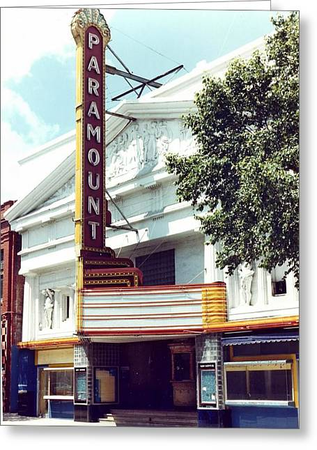 40s Paintings Greeting Cards - Paramount Theater In Baton Rouge Greeting Card by Margaret Harmon