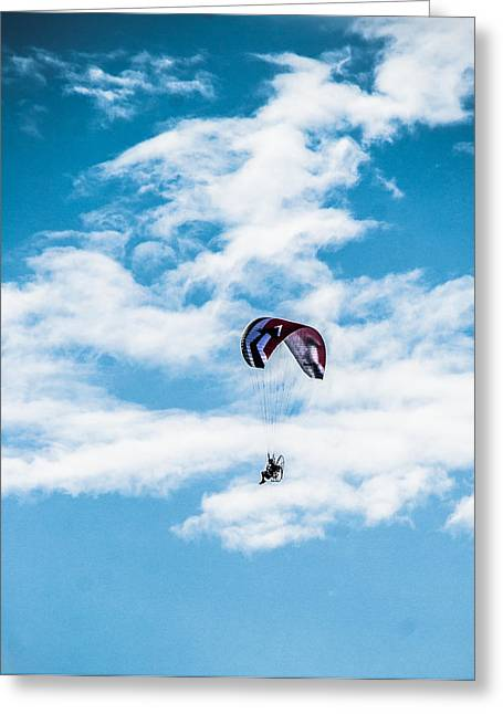 Parasail Greeting Cards - Parasailing in the Summer Breeze Greeting Card by Shelby  Young
