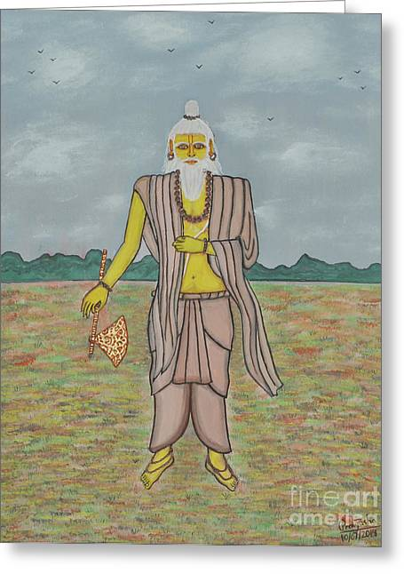 Incarnation Paintings Greeting Cards - Parashurama Greeting Card by Pratyasha Nithin