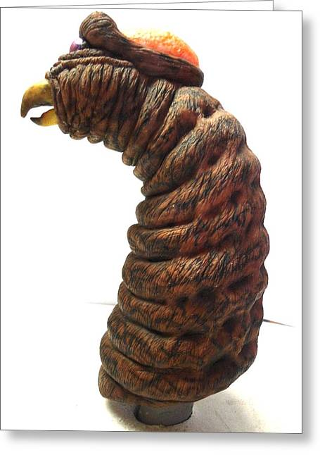 Alien Sculptures Greeting Cards - Parasite Greeting Card by Emmanuel Rodriguez