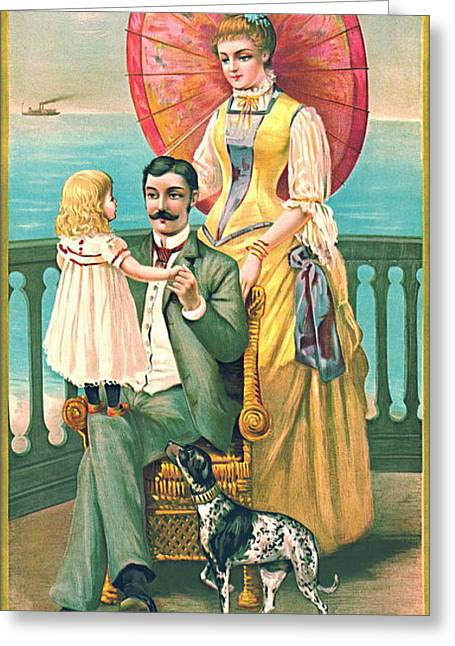 Toy Boat Greeting Cards - Parasol 1889 Greeting Card by Padre Art