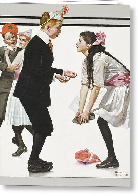 Pardon Greeting Cards - Pardon Me by Norman Rockwell Greeting Card by Nomad Art And  Design