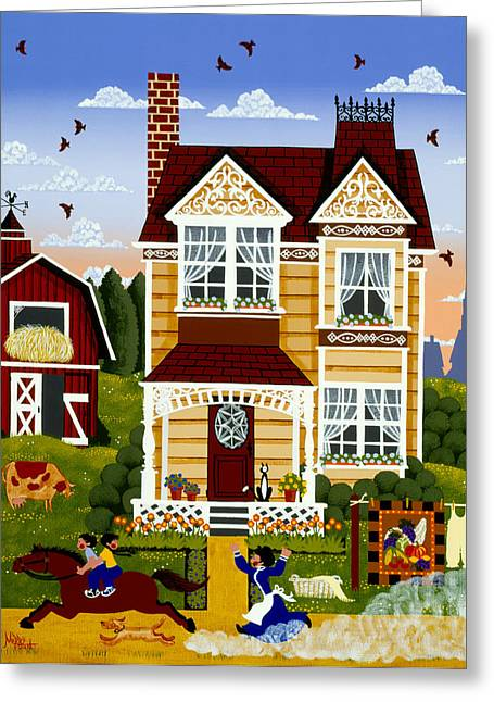 Barn Quilts Greeting Cards - Pardon Our Dust Greeting Card by Merry  Kohn Buvia