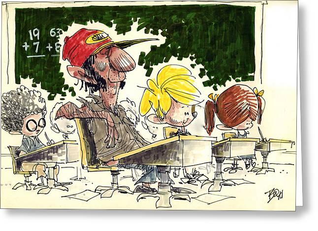 Jeff Foxworthy Greeting Cards - Parental Classmate Greeting Card by David Boyd