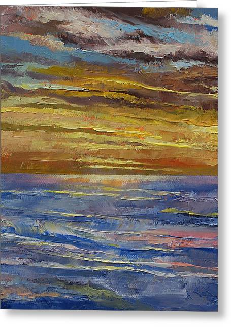 Sunset Abstract Greeting Cards - Parfait Sunset Greeting Card by Michael Creese