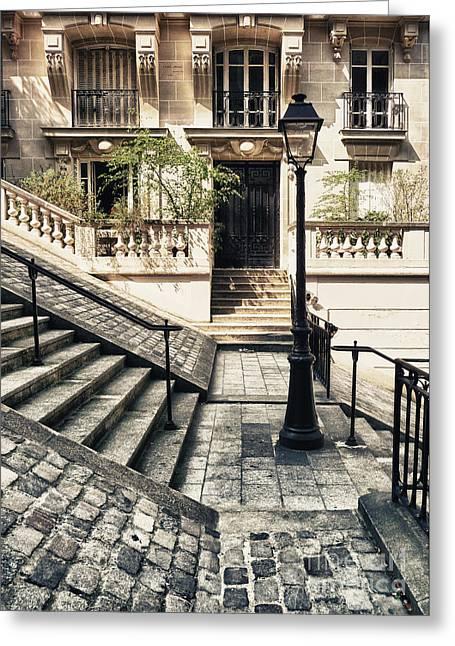Hauptstadt Greeting Cards - Paris - Stairs Greeting Card by ARTSHOT  - Photographic Art