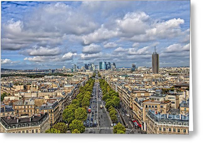 Royalty Pyrography Greeting Cards - Paris 01 Greeting Card by Mauro Celotti