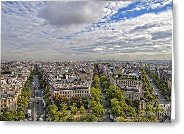 Royalty Pyrography Greeting Cards - Paris 02 Greeting Card by Mauro Celotti