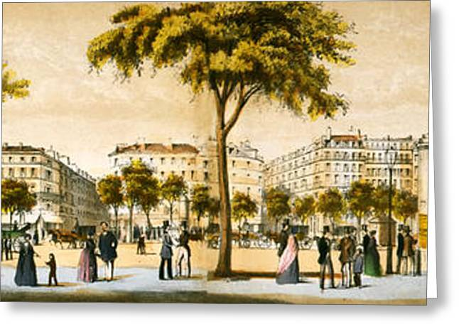 Historical Pictures Greeting Cards - Paris 1878 Greeting Card by Mountain Dreams
