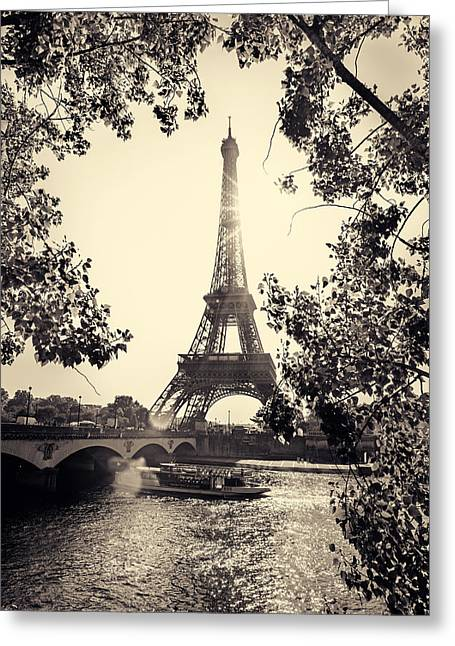 Famous Bridge Greeting Cards - Paris 2014 Greeting Card by Ivan Vukelic