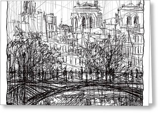 Paris 8 Greeting Card by Tatiana Ivchenkova