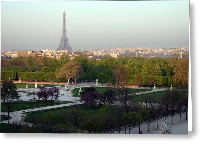 A Morddel Greeting Cards - Paris Autumn Greeting Card by A Morddel