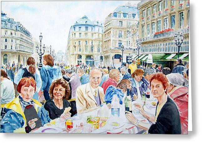 Bastille Greeting Cards - Paris Bastille Day 2000 The Incredible Picnic Greeting Card by Patrick DuMouchel