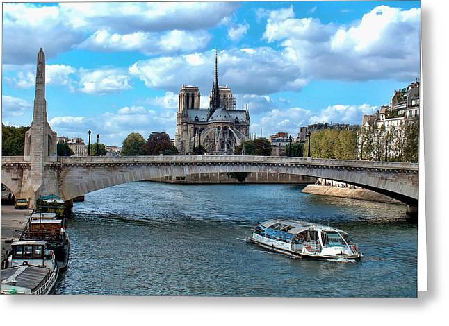Liberte Greeting Cards - Paris bridges Greeting Card by Paris France