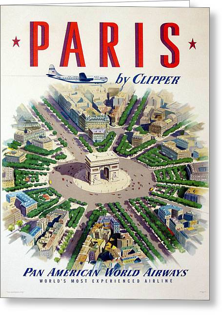 Clippers Digital Art Greeting Cards - Paris by Clipper Greeting Card by Nomad Art And  Design
