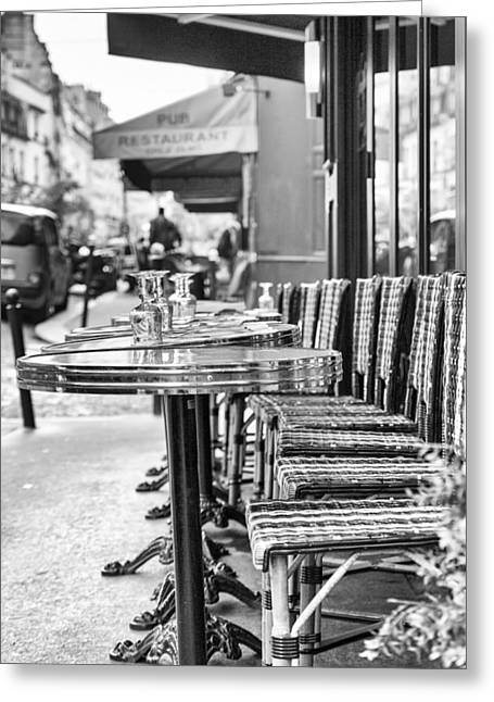Paris Cafe Before Lunch Greeting Card by Georgia Fowler
