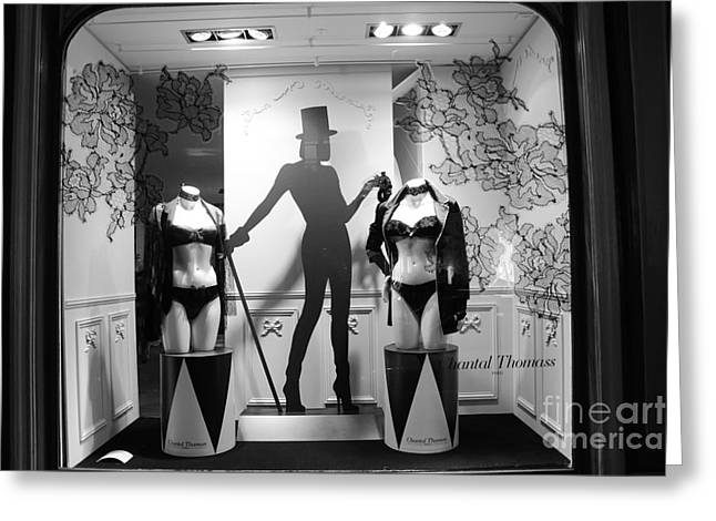 Boutique Art Greeting Cards - Paris Chantal Thomass Lingerie Shoppe - Paris Elegant HIgh Fashion Lingerie Boutique Greeting Card by Kathy Fornal