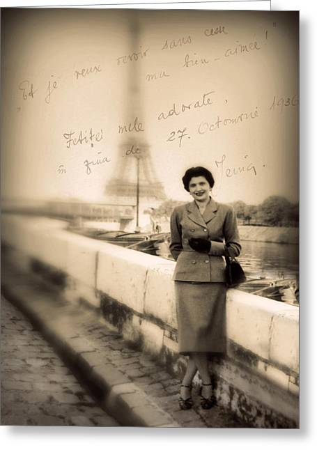 Chic Digital Greeting Cards - Paris Chic Greeting Card by Jessica Jenney