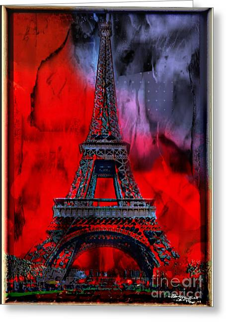 Europe Mixed Media Greeting Cards - Paris Greeting Card by Christine Mayfield
