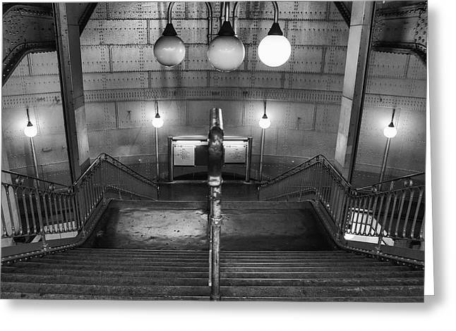 Station Wagon Greeting Cards - Paris Cite Subway Stairs Greeting Card by Nomad Art And  Design