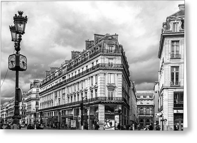 Famous Estates Greeting Cards - Paris City Streets Greeting Card by Nomad Art And  Design