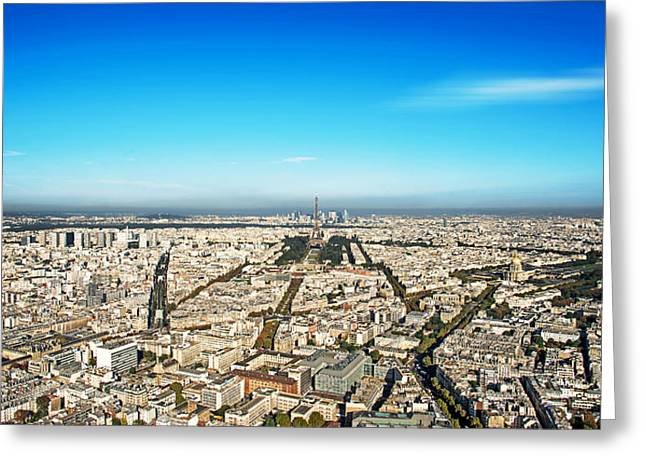 Champs Photographs Greeting Cards - Paris cityscape Greeting Card by Ivan Vukelic