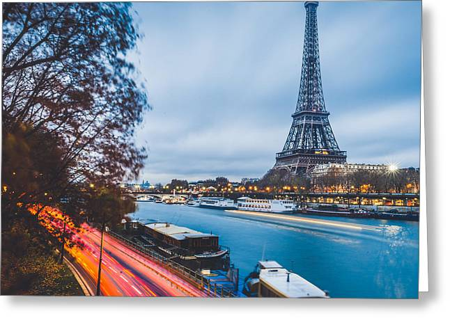 City Lights Greeting Cards - Paris Greeting Card by Cory Dewald