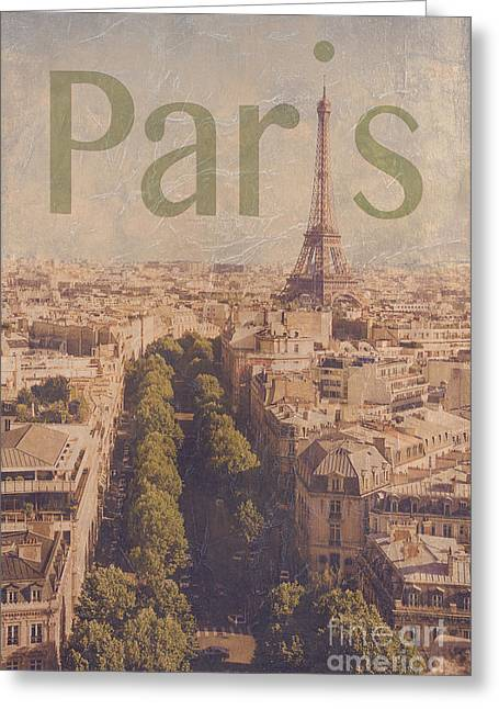 Champs Photographs Greeting Cards - Paris Greeting Card by Diane Diederich
