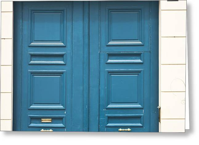 Paris Door Greeting Card by Nomad Art And  Design