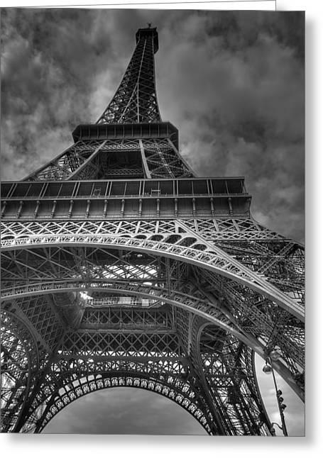 Vintage Art Greeting Cards - Paris Eiffel Tower Greeting Card by Vintage Art