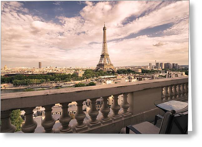 City Photography Greeting Cards - Paris - Eiffel Tower Greeting Card by Vivienne Gucwa