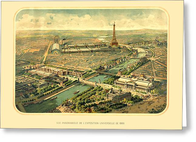 Lithography Greeting Cards - Paris Exposition Greeting Card by Gary Grayson