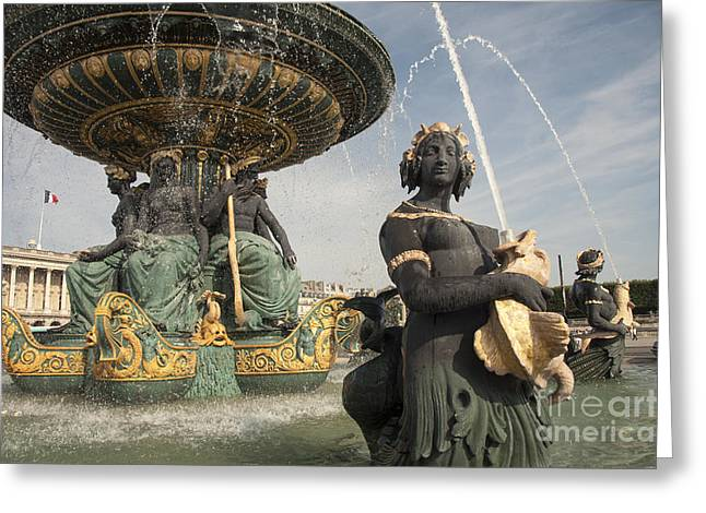Concord Greeting Cards - Paris Fountains  Greeting Card by Rob Hawkins