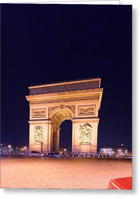 Paris France - Arc De Triomphe - 01131 Greeting Card by DC Photographer