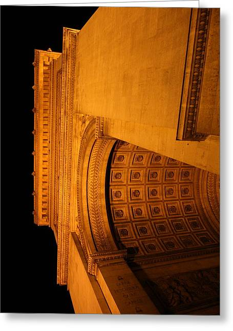 Avenue Greeting Cards - Paris France - Arc de Triomphe - 01132 Greeting Card by DC Photographer