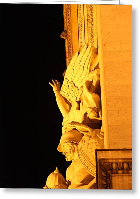 Shopping Greeting Cards - Paris France - Arc de Triomphe - 01133 Greeting Card by DC Photographer