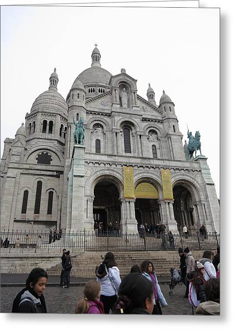 Stones Greeting Cards - Paris France - Basilica of the Sacred Heart - Sacre Coeur - 12121 Greeting Card by DC Photographer