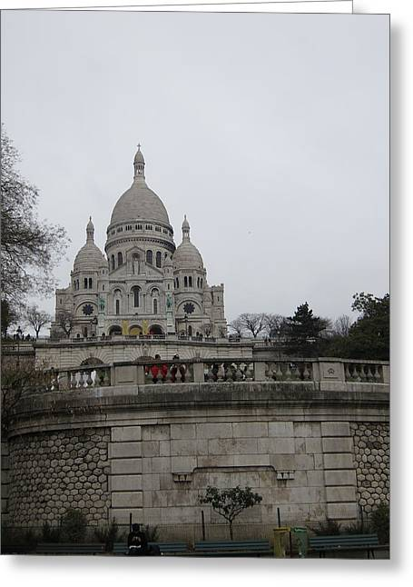 Carving Greeting Cards - Paris France - Basilica of the Sacred Heart - Sacre Coeur - 12129 Greeting Card by DC Photographer
