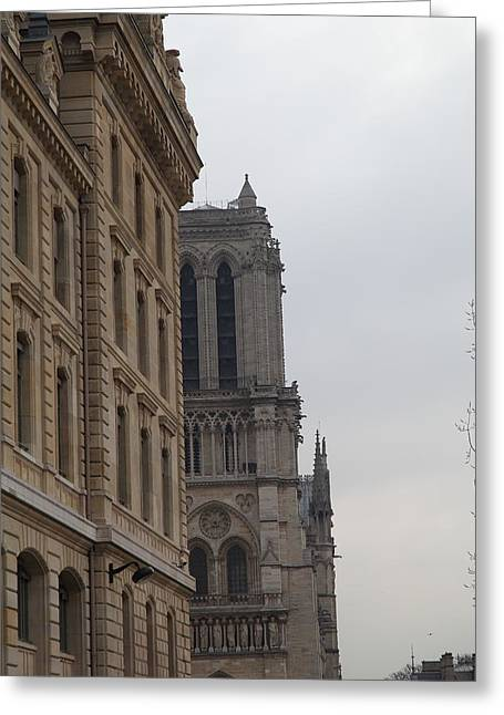 Aged Greeting Cards - Paris France - Notre Dame de Paris - 01131 Greeting Card by DC Photographer