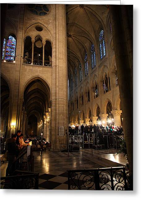 Detail Greeting Cards - Paris France - Notre Dame de Paris - 011310 Greeting Card by DC Photographer