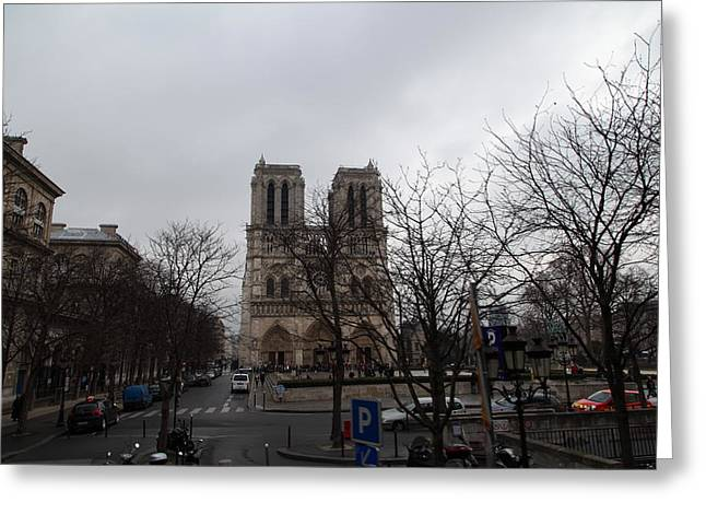 Paris France - Notre Dame de Paris - 011311 Greeting Card by DC Photographer