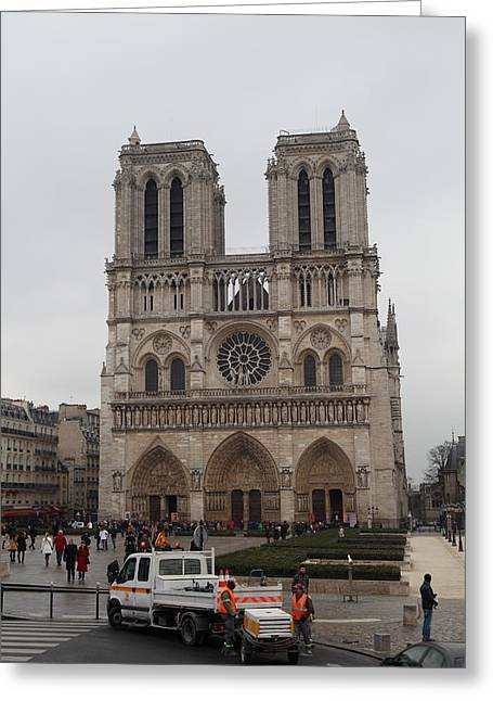 Paris France - Notre Dame De Paris - 011312 Greeting Card by DC Photographer