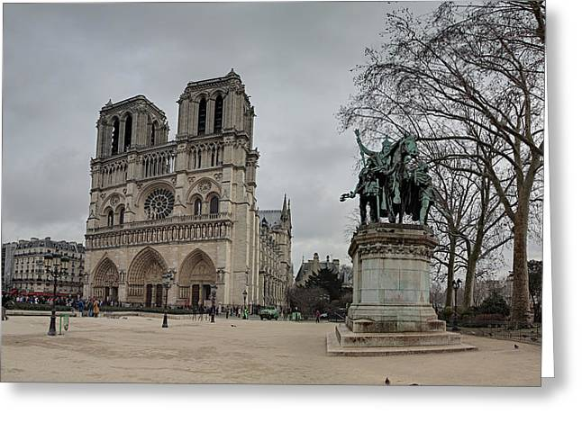 Shadows Greeting Cards - Paris France - Notre Dame de Paris - 011314 Greeting Card by DC Photographer