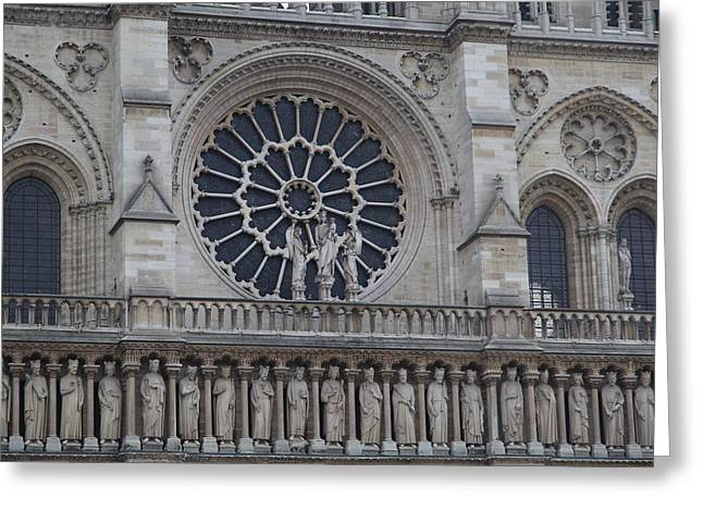 Paris France - Notre Dame De Paris - 01137 Greeting Card by DC Photographer